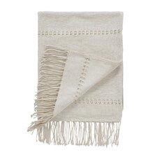 Raw Silk Pearl Throw Blanket