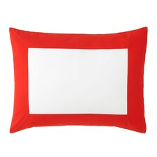 Modern Border Vermillion Sham (Set of 2)