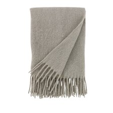 Mohair Solid Platinum Throw