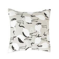 Winter Crane Pillow