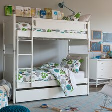 Mid-Century Bunk Bed with Trundle