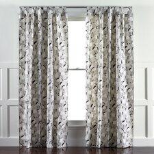 Winter Crane Linen Curtain Panels
