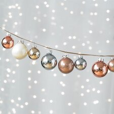 Hue Ornaments Iced Metallic Set (Set of 24)