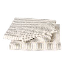 <strong>DwellStudio</strong> Chevron Chocolate Sheet Set