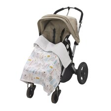 Skyline Stroller Blanket in Light Blue
