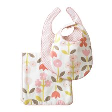 Rosette Blossom Bib Pack of Two