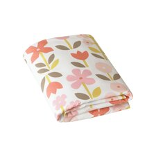 Rosette Blossom Fitted Crib Sheet