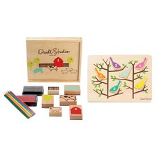 <strong>DwellStudio</strong> FARM STAMP/COUNTING BIRDS PUZZLE SET