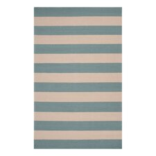 Draper Stripe Azure Outdoor Rug