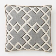Shadow Trellis Toffee Pillow