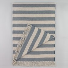 Draper Stripe Chinois Blue Throw