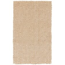 Diamond Jute Camel Rug