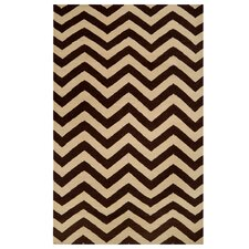 Chevron Brown Rug