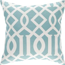 Trellis Aqua Outdoor Pillow Cover