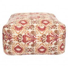 Ikat Red Outdoor Pouf