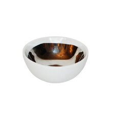 Marais Porcelain Platinum Glazed Bowl