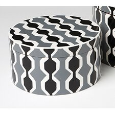 <strong>DwellStudio</strong> Chelsea Stripe Round Box