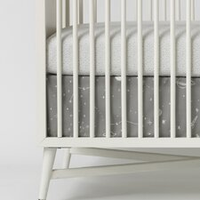 Galaxy Dove Percale Crib Skirt