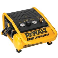 Oil-Free Hand Carry Compressors - Heavy Duty 1 Gallon 135 PSI Max Trim Air Compressor
