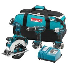 Makita LXT405 18-Volt LXT Lithium-Ion Cordless Combo Kit, 4-Piece