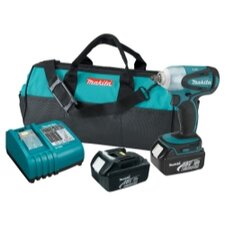 <strong>Makita</strong> 18V Lith Ion 3/8 Imp Wr Kit Case Charger & 2 3.0Ah
