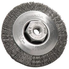 "Wire Bevel Wheel Brushes - 3-3/8"" wire bevel brush950/ bkw"