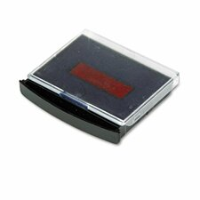 Replacement Ink Pad for 2000 PLUS 2-Color Word Daters, Blue/Red