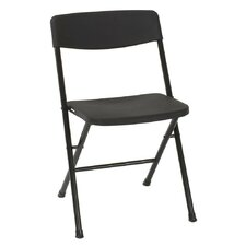 Resin Folding Chair with Molded Seat and Back (Set of 4)