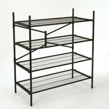 "Folding Instant Storage 47.54"" H 4 Shelf Shelving Unit"