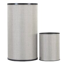 1530 Home Basketweave Round Hamper and Wastebasket Set
