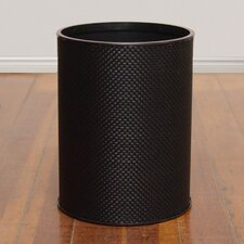 Basketweave Round Wastebasket