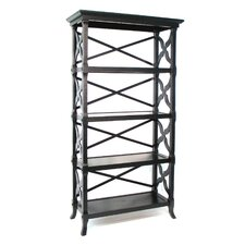 "Baron 60"" H Four Shelf Book Stand in Black"