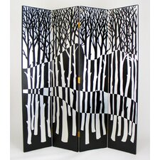 "72"" x 64"" Forest 4 Panel Room Divider"