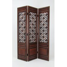 "76"" x 54"" Parlor Cross Hatch 3 Panel Room Divider"
