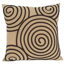 Spiral Geometric Reversible Suede Throw Pillow