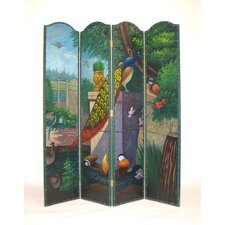 "72"" x 64"" Peacock 4 Panel Room Divider"