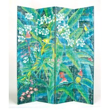 "72"" x 64"" Parrot 4 Panel Room Divider"