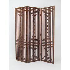 "76"" x 60"" Sarawak Screen 3 Panel Room Divider"