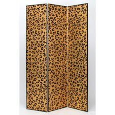 "72"" H x 48"" W Cheetah 3 Panel Room Divider"