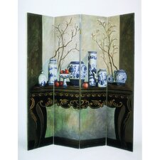 "64"" x 72"" China Arrangement 4 Panel Room Divider"