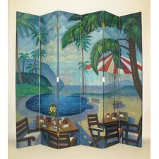 "<strong>Wayborn</strong> 84"" x 96"" Island Poolside 6 Panel Room Divider"