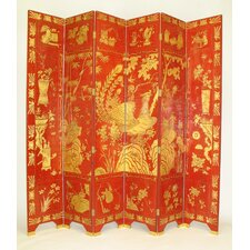 Lucky Red Phoenix Room Divider