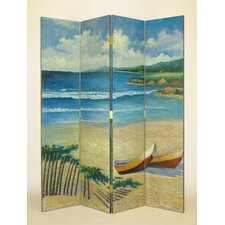 "<strong>Wayborn</strong> 72"" x 64"" Cape Cod 4 Panel Room Divider"