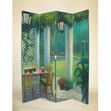 "64"" x 72"" Scene from the Porch 4 Panel Room Divider"