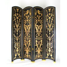 "72"" x 64"" Roaring Twenties 4 Panel Room Divider"