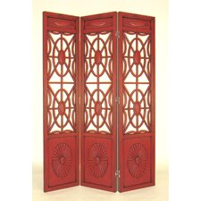 Gothic Flower Bomb Room Divider in Chestnut
