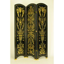 "78"" x 54"" Arched Grecian 3 Panel Room Divider"