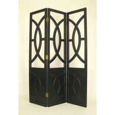 Overlapping Circles Room Divider in Black
