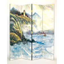 "<strong>Wayborn</strong> 72"" x 64"" High Seas 4 Panel Room Divider"