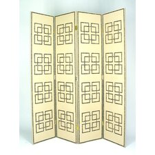 "72"" x 64"" Full House 4 Panel Room Divider"